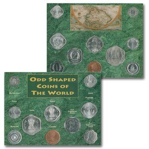 Odd Shaped Coins Of The World-10 Coins